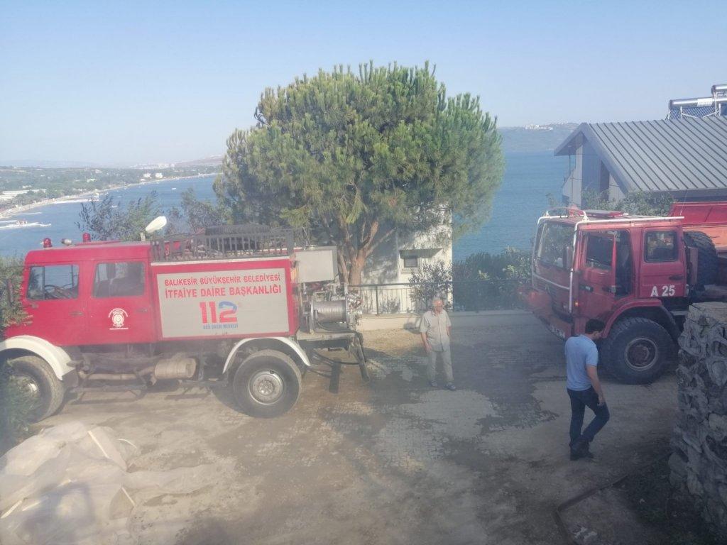 Erdek'te Askeri Kampta Yangın