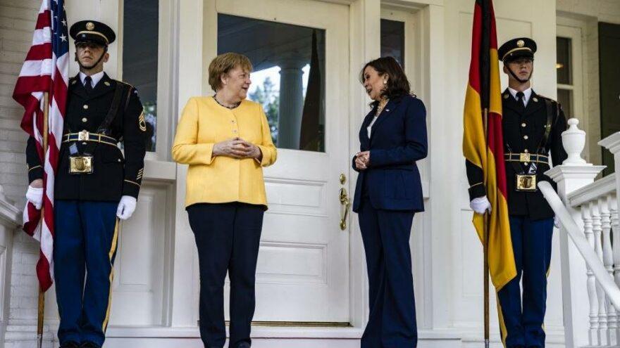 Angela Merkel, ABD Başkan Yardımcısı Harris ile bir araya geldi