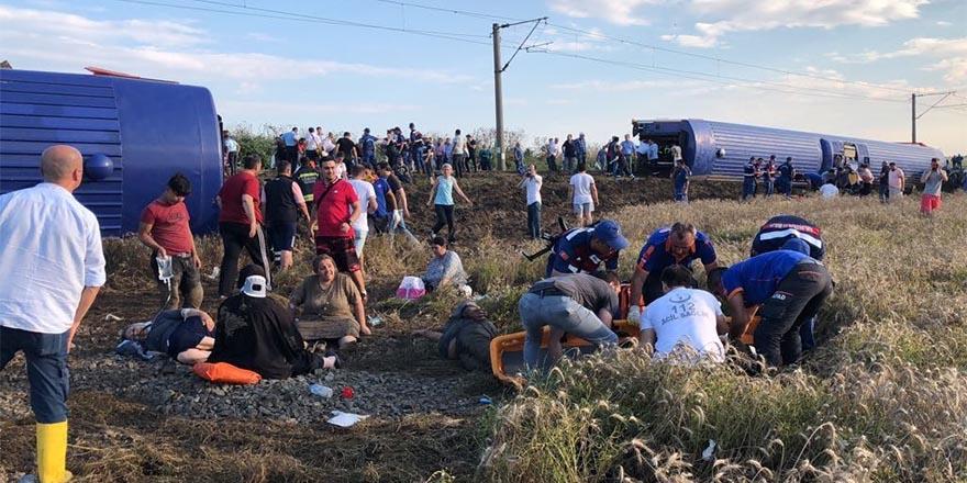 Çorlu'da tren kazası, 10 ölü, 73 yaralı