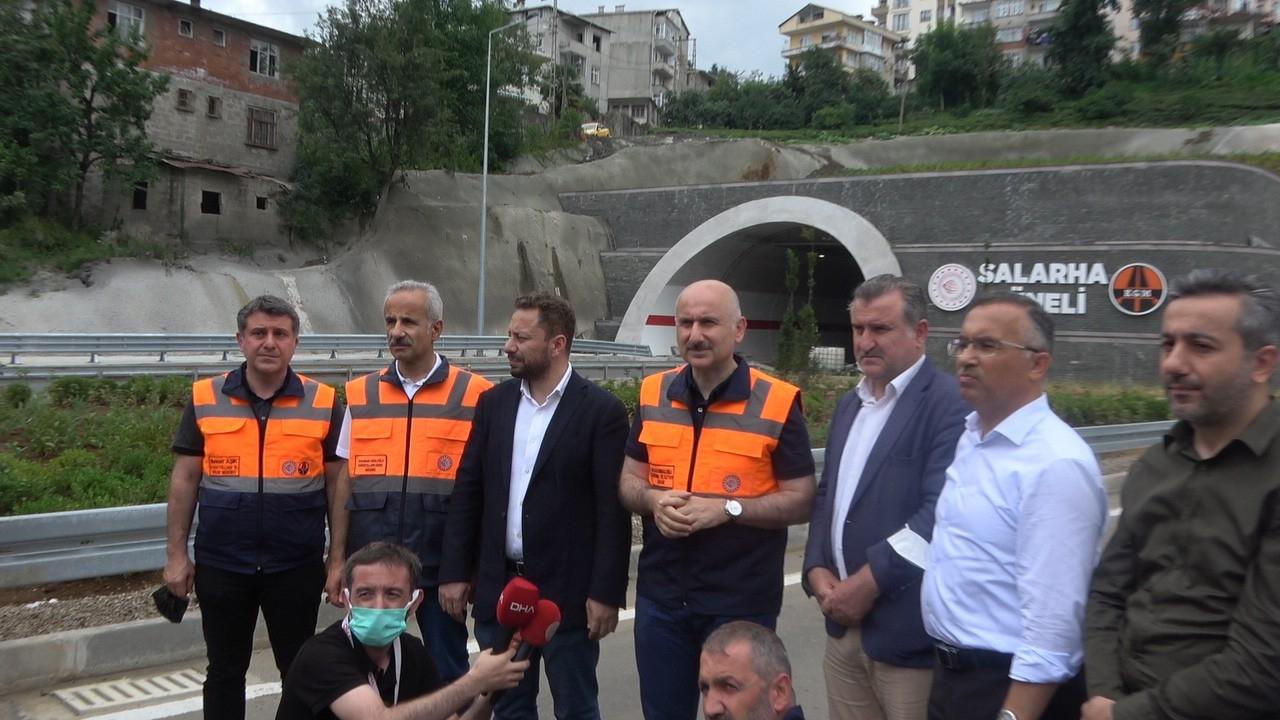 Bakan Karaismailoğlu: Önümüzdeki günlerde İkizdere Tüneli ile Salarha Tüneli'nin açılışını yapacağız
