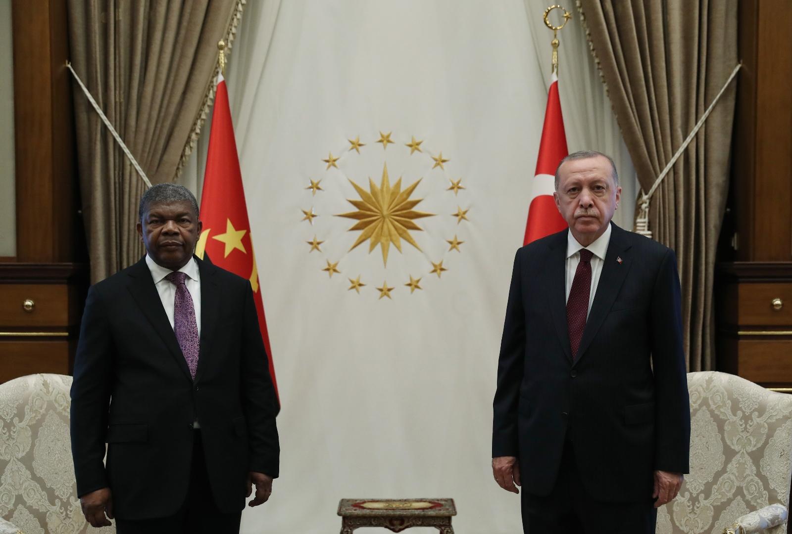 """Cumhurbaşkanı Erdoğan: """"Angola ile ticaret hacmi hedefimiz ilk etapta 500 milyon dolara ulaşmak"""""""