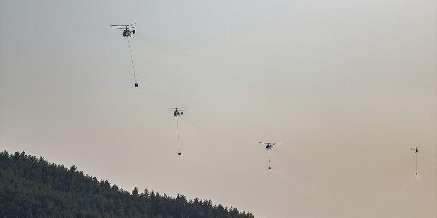Yaklaşık 30 ton su taşıyan Helikopterlerin sayısı arttırıldı