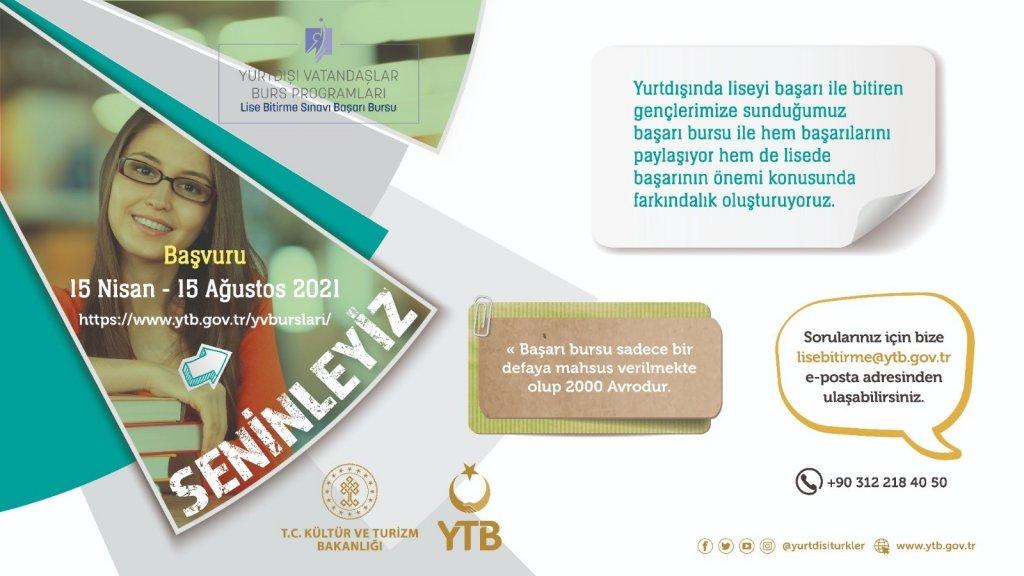 YTB yurtdışı vatandaşlar burslarına başvuru için son 10 gün
