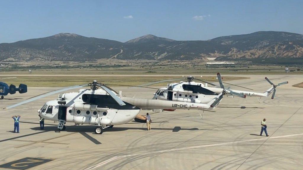 Ukrayna'dan Gelen 5 Helikopter Yangınlara Gece Müdahalesi İçin Havalanacak