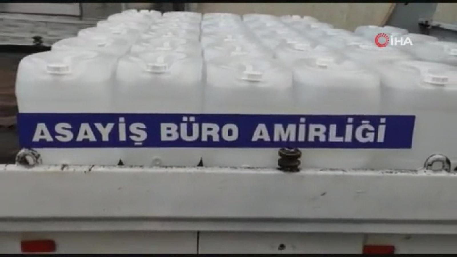 Avcılar'da sahte içki imalatına baskın: 1 ton 900 litre etil alkol ele geçirildi