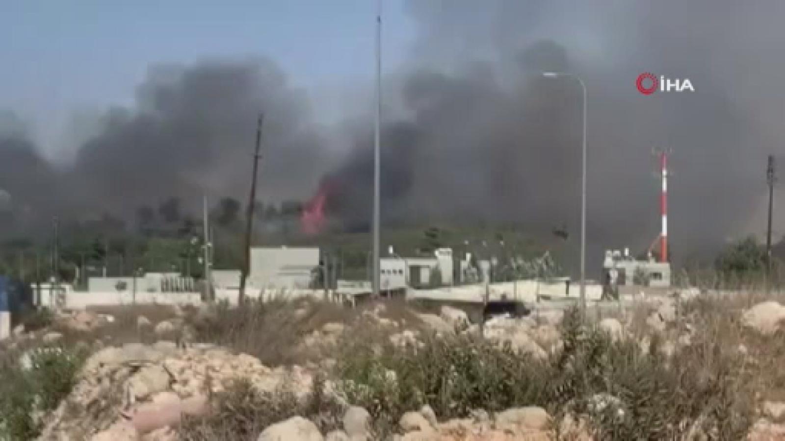 Batı Şeria'da çıkan orman yangını yerleşim yerlerini tehlikeye atıyor