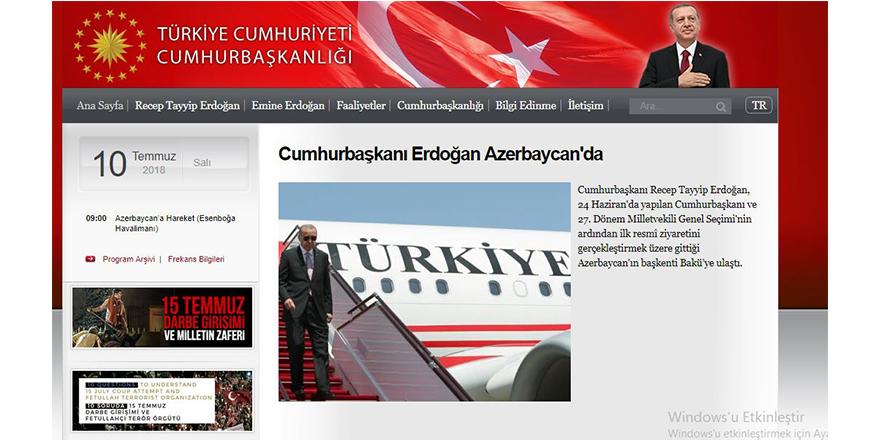 Başbakanlık sitesi kapandı