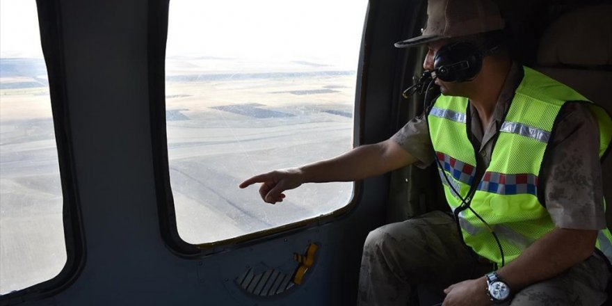 Jandarma Ekipleri Ağrı-erzurum Ve Ağrı-iran Kara Yollarını Havadan Denetledi