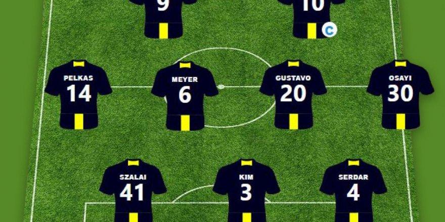 Eintracht Frankfurt ile karşılaşacak olan Fenerbahçe'de muhtemel 11'li