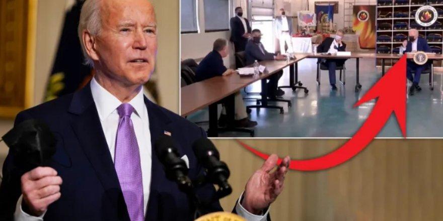 ABD Başkanı Biden'a canlı yayında şok hareket!