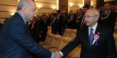 Erdoğan ile Kılıçdaroğlu, AYM töreninde tokalaştı