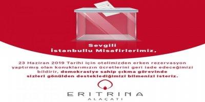 23 Haziran'a Bir Destek de Alaçatı Eritrina'dan