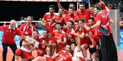 A Milli Erkek Voleybol Takımı Slovakya'yı Yendi
