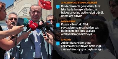 Cumhurbaşkanı Erdoğan: İstanbul Dışına Çıkmış Vatandaşlarımızın Seçim İçin Dönüşleri Önemli