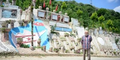 Emekli İmam Yaşadığı Sokağı Taşlarla Süsledi