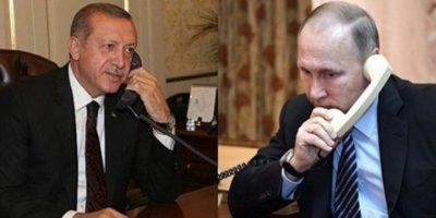 Cumhurbaşkanı Erdoğan, Rusya Lideri Putin İle Telefonda Görüştü