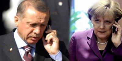 Cumhurbaşkanı Erdoğan, Angela Merkel'le Görüştü