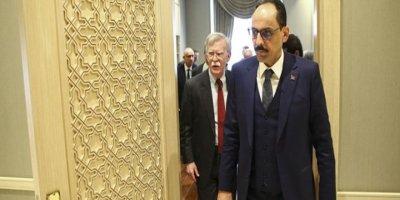 Cumhurbaşkanlığı Sözcüsü Kalın, Bolton ile Suriye'yi görüştü