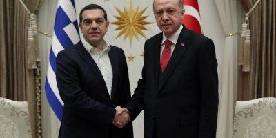 Cumhurbaşkanı Erdoğan Çipras'la bir araya geldi