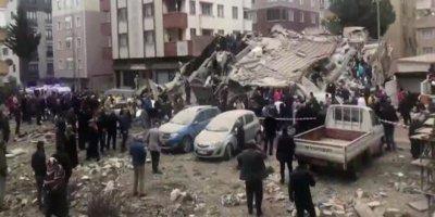 İstanbul Kartal'da 8 katlı bina çöktü: 1 ölü