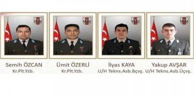 Helikopter Kazasında Şehit olan askerlerin isimleri belli oldu!