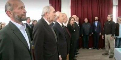 CHP adayı İstiklal Marşı'nı okumadı