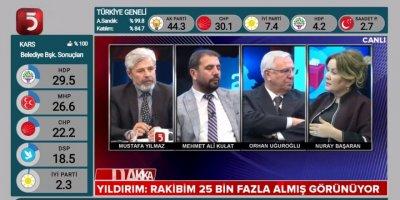 Nuray Başaran, Tv5'in Seçim Özel programında Yerel Seçimleri Değerlendiriyor