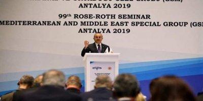 Çavuşoğlu'nun sözleri üzerine Fransız parlamenterler salonu terk etti